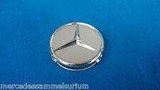 Mercedes Benz Genuine Pièce 4 Enjoliveurs De Roue 75mm Argent Sterling