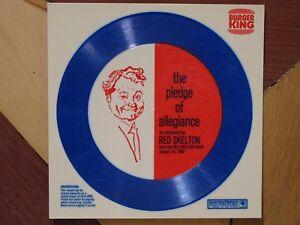 VINTAGE 1969 RED SKELTON PLEDGE OF ALLEGIANCE BURGER KING PROMO ITEM - MINT