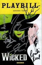 Wicked Signed Autographed Cast Playbill