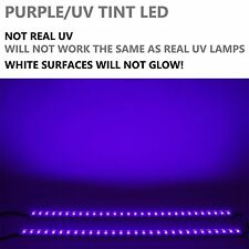 "2x 20"" LED Strip Aluminum Wall Washers Black light UV Lighting w/Power Supply"