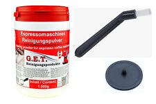 Reinigungspulver Set für Espressomaschine 1kg Reinigungsbürste und Blindfilter