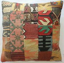 (50*50cm, 20inch) Authentic vintage handwoven kilim cushion cover patchwork 4