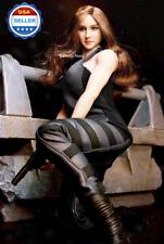 Superduck 1/6 scale Shailene Woodley Divergent Head Clothing Set for PALE Phicen