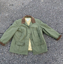 New listing LL Bean Barn Chore Coat Garden Jacket Size Large Lined Green Button Corduroy