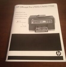 HP Officejet Pro L7500/L7600/L7700 Original Manual Guide