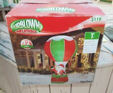 GEMMY CHRISTMAS SANTA IN HOT AIR BALLOON  INFLATABLE AIRBLOWN  12 FT TALL NEW