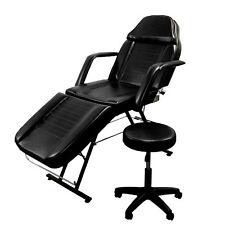 Spa Salon Massage Beauty Equipment Facial Chair Bed Tattoo w/ Adjustable Stool