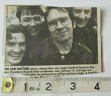 THE SAW DOCTORS HAND SIGNED PRESS CUTTING & COA