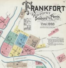 Frankfort, Kentucky~Sanborn Map© sheet~17 maps in full color.