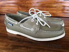 Women's Sebago Classic Boat Shoes Greenish Gray Leather 8.5 M