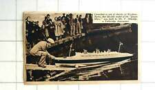 1939 Totteridge Chair Maker Mr F Aldridge Launching Queen Mary Model Wycham Buck