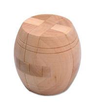 Wooden Intelligence Game 3D Wood IQ Puzzle Brain Teaser Magic Barrel Cube 12 pc