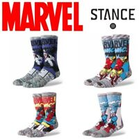 Stance Marvel Socks Men's Captain America Spiderman Iron Man Venom Large L 9-12