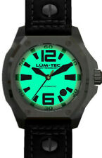 Lum-Tec Watch V5 Automatic Mens Black Leather Limited Edition AUTHORIZED DEALER