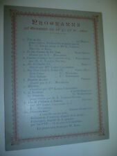 FRANC-MACONNERIE 1893 CONCERT SAINT SAENS GOUNOD BRUXELLES