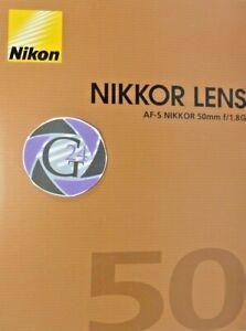 Nikon AF-S Nikkor 50mm f/1.8G - NEU - VAT/MwSt. ausweisbar!