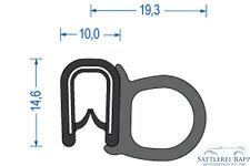 Kantenschutz mit Dichtgummi seitlich, Klemmbereich 2-4 mm, 1m=5,00€ Dichtprofil