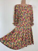 BNWOT NEXT beautiful floral bloom summer fit & flare tea dress size 12 euro 40