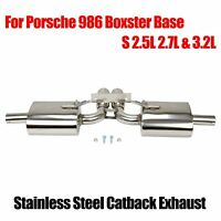 FITS BOXSTER 986 / S 97-04 2.5L / 2.7L STAINLESS STEEL AXLEBACK EXHAUST