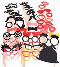 50 Wedding Photo Booth Props, Wedding Party Decorations, NO DIY REQUIRED, USA