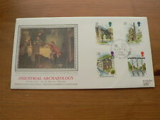 1989 Sotheby's Bradbury Silk First Day Cover: Industrial Archaeology
