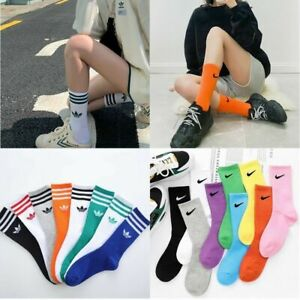 Women's and Men's Aididas Sports Athletic Socks Casual Mid-Tube Cotton Socks UK