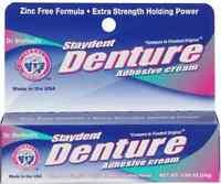 DR SHEFFIELD'S Staydent DENTURE Adhesive Cream Zinc Free Formula GLUE DENTAL