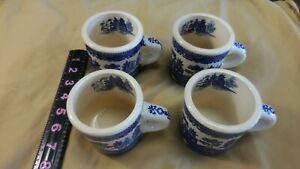 Grant Crest China Set of  4 Pieces coffee cups--one has small crack