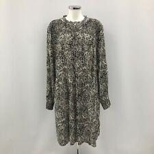 New Monsoon Alessia Floral Smock Dress XL UK20-22 Black/White Ditsy Print 281836