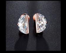 Excellent Cut Rose Gold VVS1 Fine Diamond Earrings