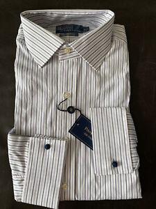 NEW Polo Ralph Lauren Men's striped  Classic Fit Dress Shirt  16.5-32/33