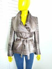 ARMANI COLLEZIONI 100% Silk Wrap Coat with Belt Size 4 Italy Orig Retail $1,195!