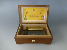 VINTAGE LADOR PRE REUGE SWISS MUSIC BOX TABATIERE PLAY 4 SONGS (WATCH THE VIDEO)