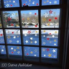 100 Sterne AA194  Fensteraufkleber Weihnachten Dekoration Fensterbilder