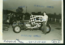 ED ZERKLE #36 MODIFIED-AUTO RACING PHOTO-1964
