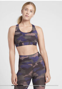 New! Athleta Ultimate Printed Bra A-C Mantra Print Cool Size Small #531223