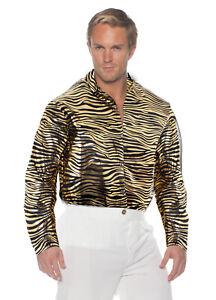 Joe Exotic Mens Adult Series Tiger Stripes Printed Halloween Costume Shirt-OS