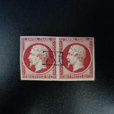 FRANCE STAMP NAPOLÉON NO.17A PAIR OBLITERATION PD SIDE