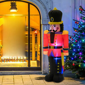 6' Tall Inflatable Christmas Nutcracker Soldier Outdoor Holiday Yard Decoration
