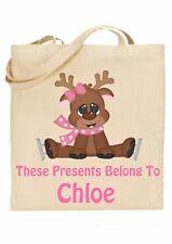 Bolsa De Navidad Para Niños Personalizado * (presenta pertenecen a) Reno ref 3