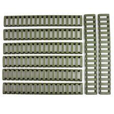8PC Heat Resistant Rifle Ladder Rail Cover Weaver Picatinny Handguard / OD Green