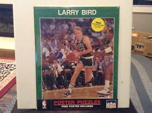 VTG NIP 1988 Larry Bird Boston Celtics STARLINE 400 Piece Jigsaw Puzzle & Poster