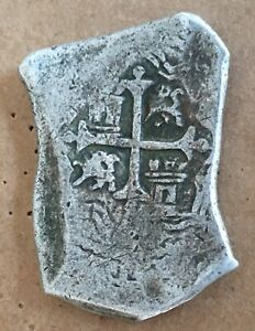 1600s Spanish Spain 8 Reales Real Cob Silver Coin Colonial Treasure 28.2 (MJ003)