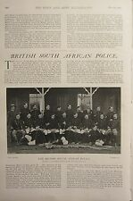 1902 PRINT BRITISH SOUTH AFRICAN POLICE NON-COMMISSIONED OFFICERS OF BULAWAYO