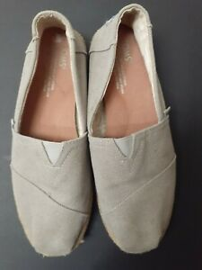 Toms Canvas Light Grey Sneakers Size 7
