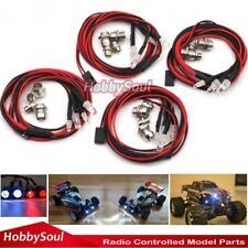 4pc RC LED light kit Headlight Taillight For RC Truck Crawler Buggy Off Road Car