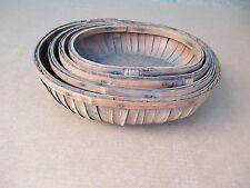 ANTIQUE Set of 4 Nesting Baskets VINTAGE
