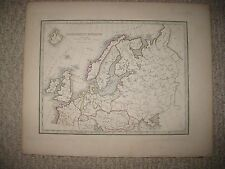 Antique 1835 North Northern Europe Handcolored Map Russia Prussia Germany Sweden