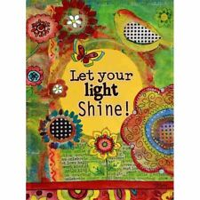 "LET YOUR LIGHT SHINE! 28"" X 40"" PORCH FLAG 10-2608-195 RAIN OR SHINE SUMMER"