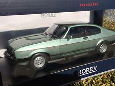 1:18 Ford Capri II 1982 2.8 Lt Green Met Norev 182719 All Openning Diecast NEW